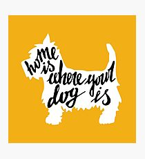 Home is where your dog is Photographic Print