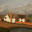 Manor House, painting by Vic Potter by Vic Potter