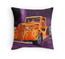 30's Screamin' Orange Chevy Pickup Throw Pillow