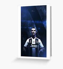 Cristiano Ronaldo Juventus Greeting Card