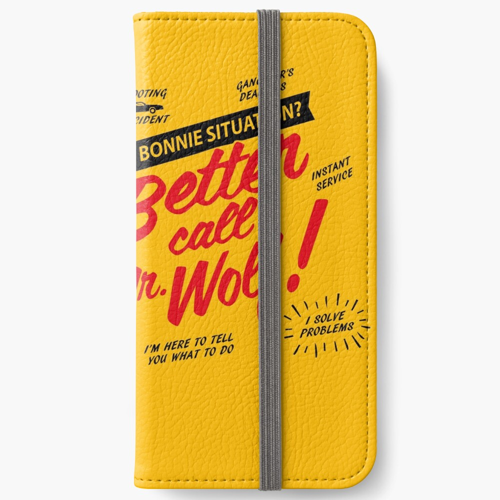 Better Call Mr. Wolf iPhone Wallet