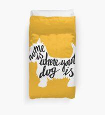 Funda nórdica El hogar es donde está tu perro