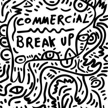 Commercial Break Up Street Art Graffiti Black and White by signorino