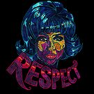 Arethra Franklin Hand-Drawn Respect by thaneydesign