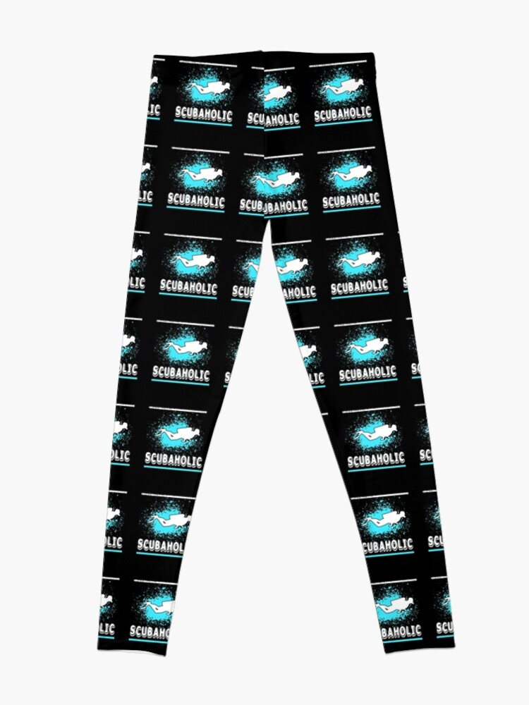 Vista alternativa de Leggings Scuba Diving Scubaholic Funny Diver Diseño apenado