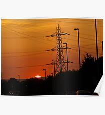 Sunrise In Suburbia Poster