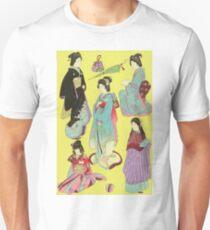 Japanese Art Print - Flowers of the City Unisex T-Shirt