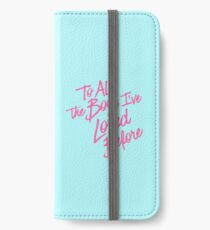 An alle Jungs, die ich früher geliebt habe, pink iPhone Flip-Case/Hülle/Klebefolie