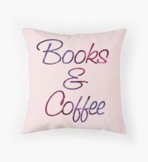 Books and Coffee Throw Pillow