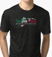 Stelvio Pass T-Shirt & Sticker 2018 - Italian Flag Colors Tri-blend T-Shirt