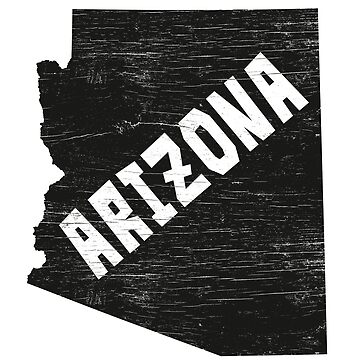 Arizona Home Vintage Distressed Map Silhouette by YLGraphics