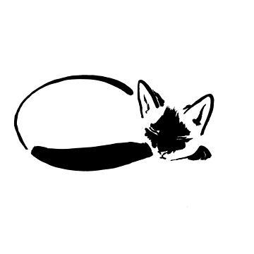 sumie cat by pechane