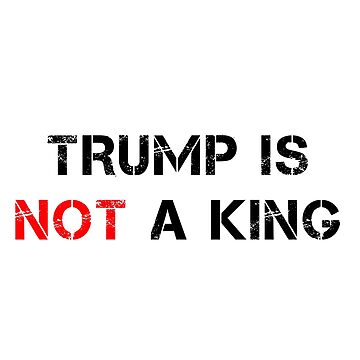 Trump Is Not A King by JStuartArt