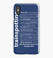 Trainspotting Quotes iPhone Case/Skin