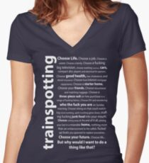 Trainspotting Quotes Women's Fitted V-Neck T-Shirt