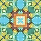 «Naranja turquesa verde azulado azul verde Hip Oriente Bali arte» de LC Graphic Design Studio