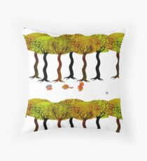 Friends in the forest Floor Pillow