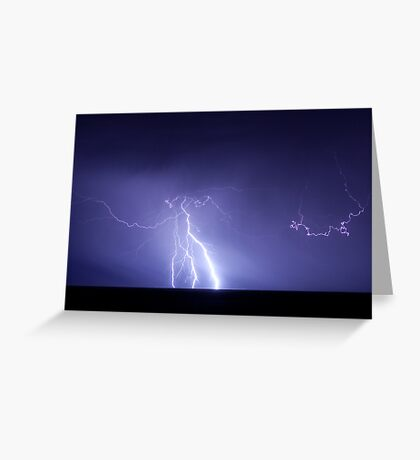 Staccato lightning Greeting Card