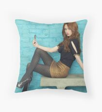 Karen Gillan Throw Pillow