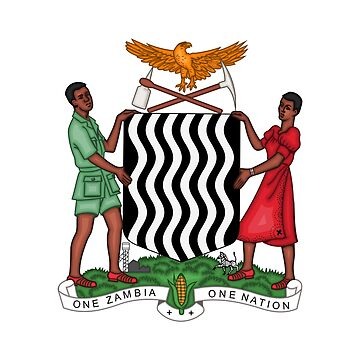 Coat of arms of Zambia by fourretout