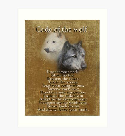 Code des Wolfes Kunstdruck