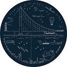 Land, Sea and Space - Sticker Set by Robin Wilde