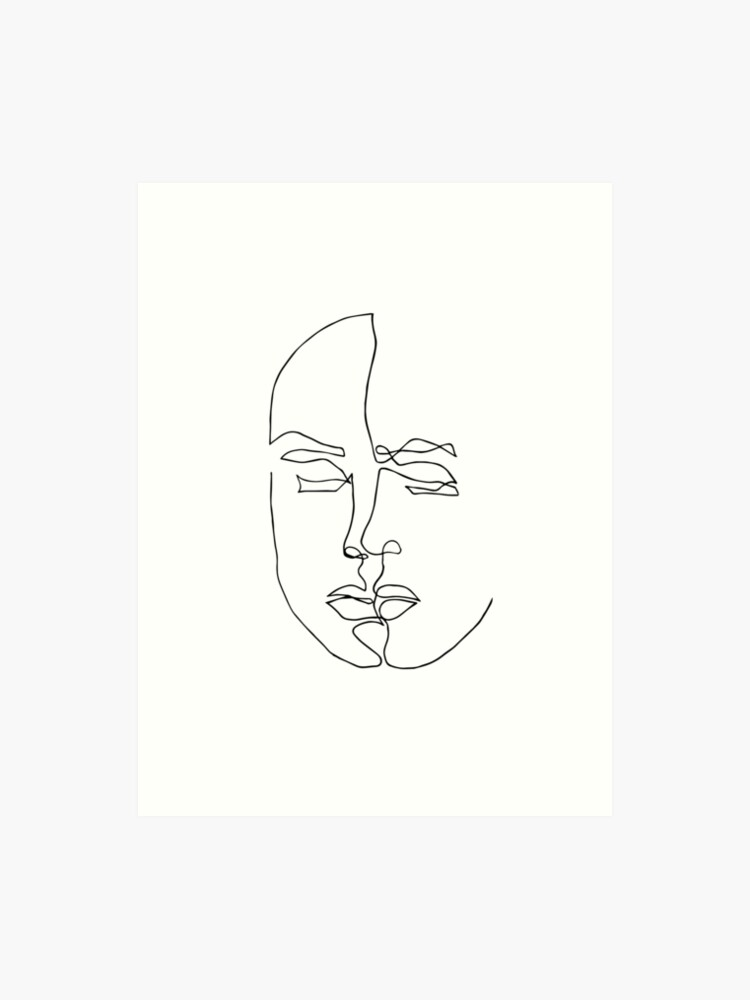 1a78d62002e8f Aesthetic line draw T-shirt for men and women - Art lovers T-shirt | Art  Print