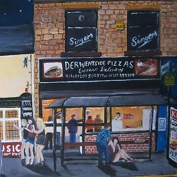 Derwentside Pizza 1 by CrossanArt