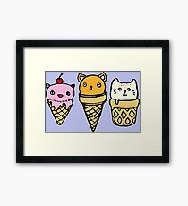 Ice-cream Cats Framed Print