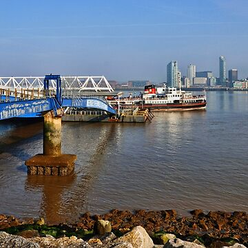 Snowdrop leaving Seacombe Ferry port. by Retiree