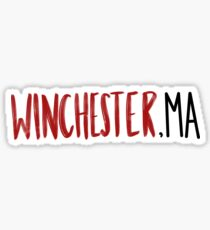 Winchester Massachusetts  Sticker