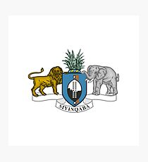 Coat of arms of Swaziland Photographic Print