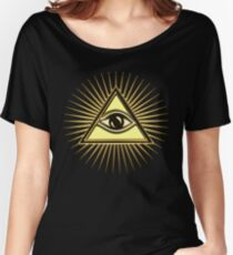 Eye Of Providence - All Seeing Eye Of God - Symbol Omniscience Women's Relaxed Fit T-Shirt