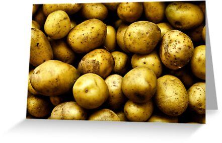 Golden Potatoes  by MikeJagendorf