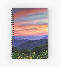 Blue Ridge Mountain Color Spiral Notebook