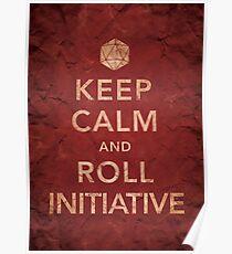 Póster Mantener la iniciativa de calma y rodar