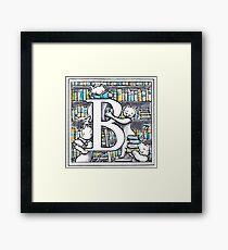 B for Books Framed Print
