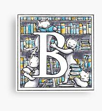 B for Books Canvas Print