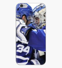 a center and his goalie iPhone Case