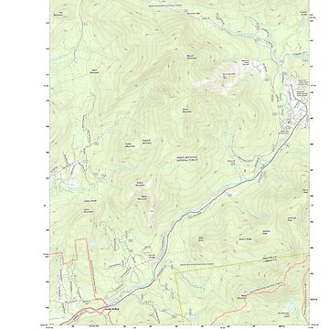 USGS TOPO Map New Hampshire NH Waterville Valley 20120606 TM by wetdryvac