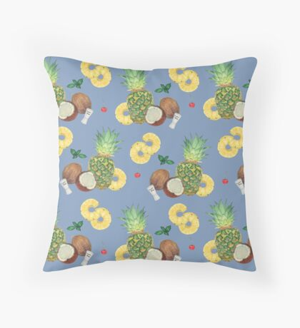 pina colada _ blue Throw Pillow