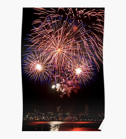 OMG LOOK! - Sydney Harbour - New Years Eve - Midnight Fireworks Poster