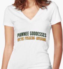 Pawnee Goddesses Women's Fitted V-Neck T-Shirt