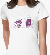 Quirky teapots  Women's Fitted T-Shirt