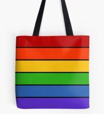 Rainbow Stripes Tote Bag
