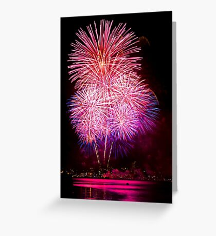 Blossom Bursts - Sydney Harbour - New Years Eve - Midnight Fireworks  Greeting Card