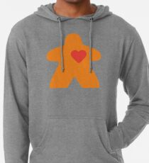 Meeple Love - orange Lightweight Hoodie
