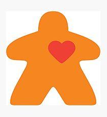 Meeple Love - orange Photographic Print
