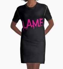 L.A.M.F. (Like a Motherf#cker) LAMF Pink Graphic T-Shirt Dress