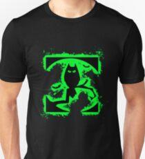 Bat halloween green and black silhouette Unisex T-Shirt